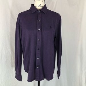 Polo Ralph Lauren purple knit dress shirt Large